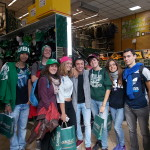 A group of teens shop for souvenirs after three fun-filled weeks in Ireland.