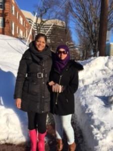Vickie poses with Majidah from Saudi Arabia