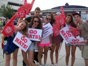 Teens from Spain enjoy one of America's favorite sport.