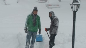 Chunyi enjoyed the snow until he was introduced to the shovel!