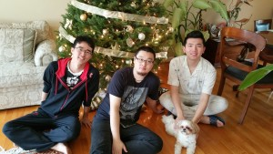 Xiaofan return home from college during Christmas break.