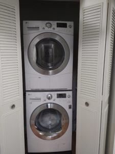 Washer & dryer in the apartment