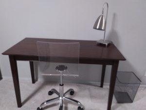 Desks in bedroom