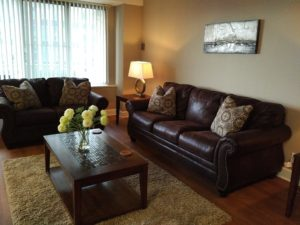 Spacious living rooms