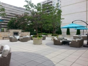 Patio with with outdoor grill